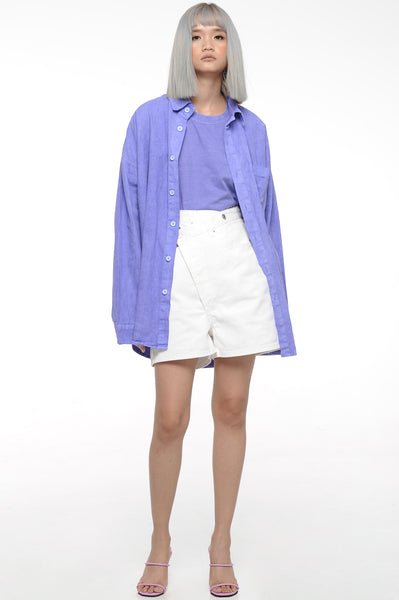 Blue Violet Button-down shirt