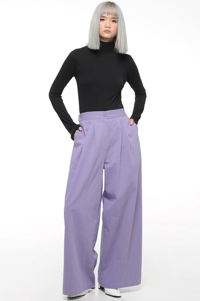 Lilac Wide Leg Trousers