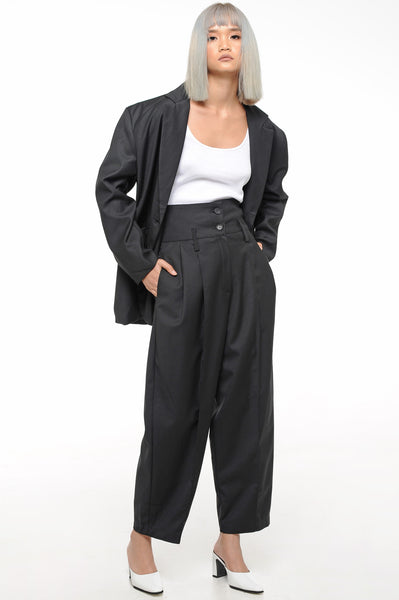 Black Oversized Soft Suit Set