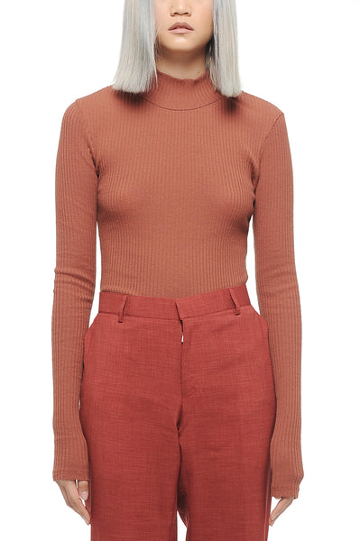 Rust High Neck Top
