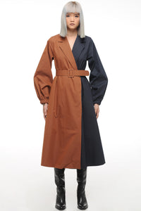 Chocolate Blueberry Two Tone Coat