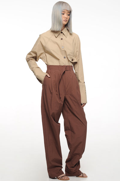 Walnut Long Length Trousers