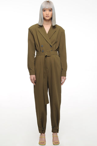 Olive Double Breasted Jumpsuit
