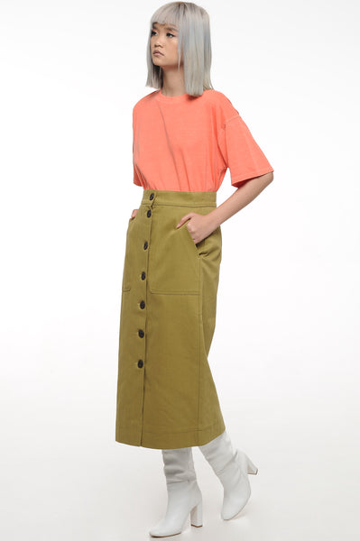 Moss Green Pencil Skirt