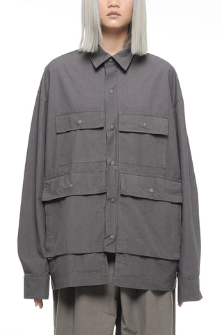 Steel Gray Utility Jacket