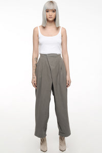 Slate Gray Overlap Trousers
