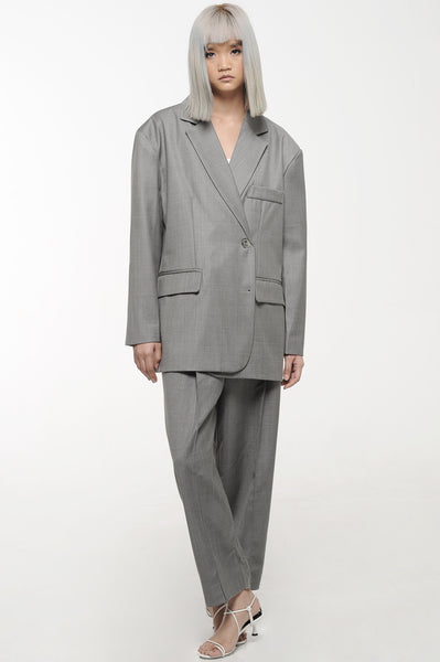 Grey Oversized Suit Set