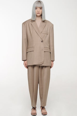 Khaki Oversized Soft Suit Set