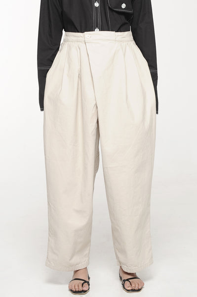 Ivory Overlap Trousers