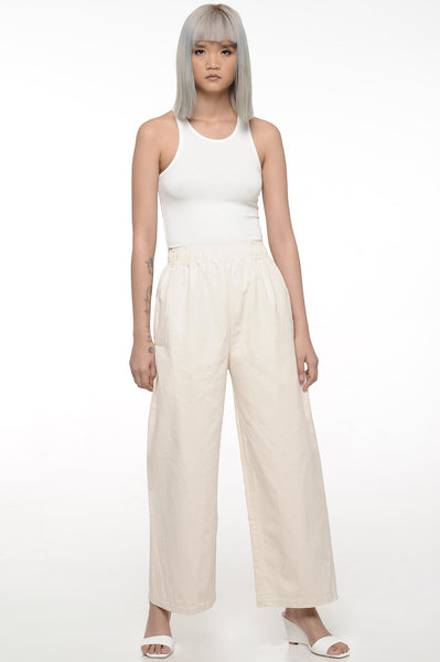 Ivory Easy Leg Trousers