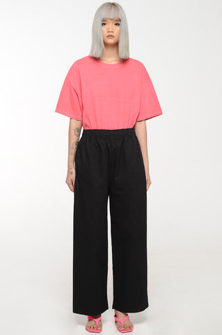 Black Easy Leg Trousers