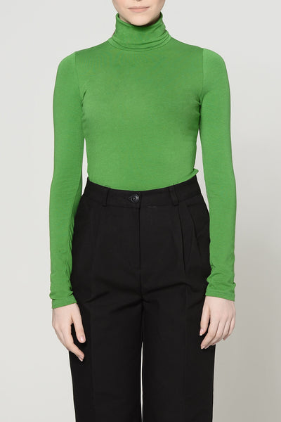 Vivid Green High Neck Top