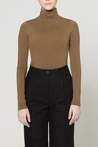 COFFEE HIGH NECK TOP