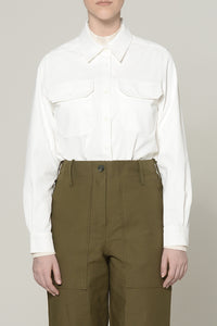 WHITE TWO-FLAP POCKET TOP