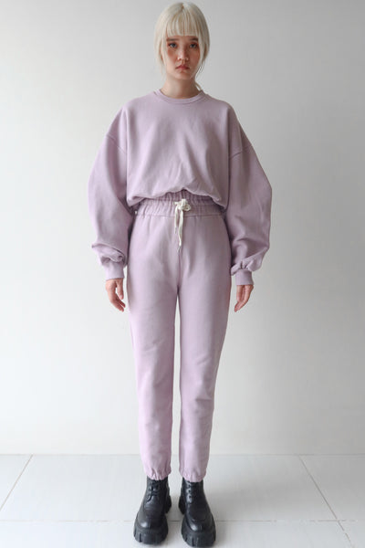 Pale Purple Sweater and Trackie Set