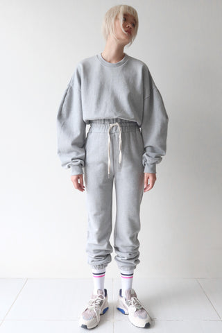 Light Gray Sweater and Trackie Set