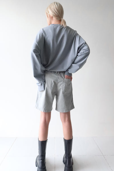 Light Slate Gray T-Shirt and Ash Gray Shorts Set