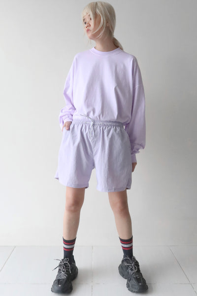 Pale Purple T-Shirt and Thistle Shorts Set