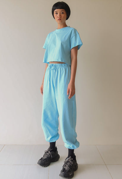 Baby Blue Tee and Trackie Set