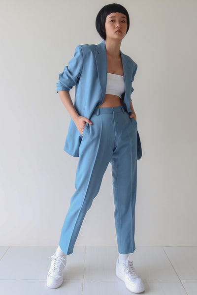Carolina Blue Single Breasted Suit Set