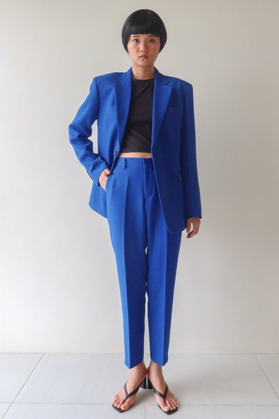 Electric Blue Single Breasted Suit Set