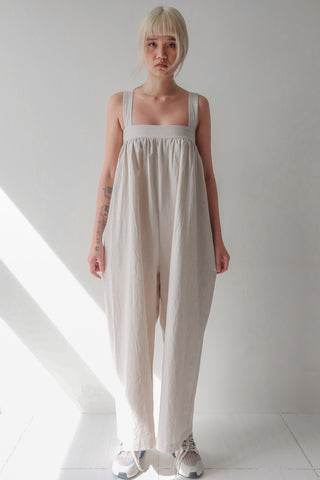 Eggshell Square Neck Jumpsuit