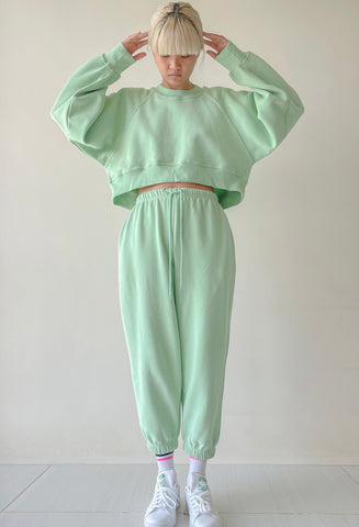 Mint Green Sweater Top and Trackie Set