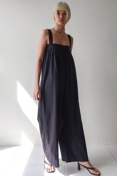 Black Square Neck Jumpsuit