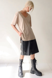 Nude Low Scoop T-Shirt