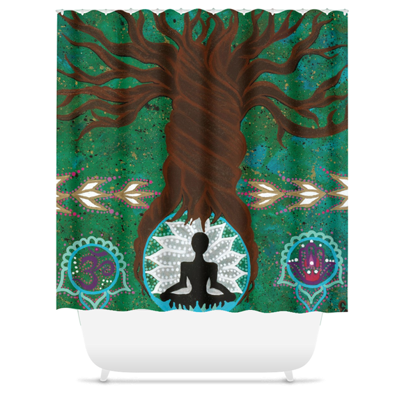 Centered Zen Shower Curtain
