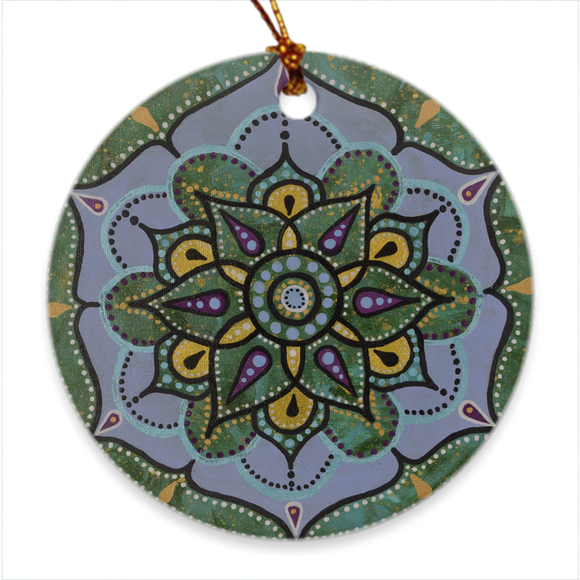 Porcelain Ornaments Blue Mandala