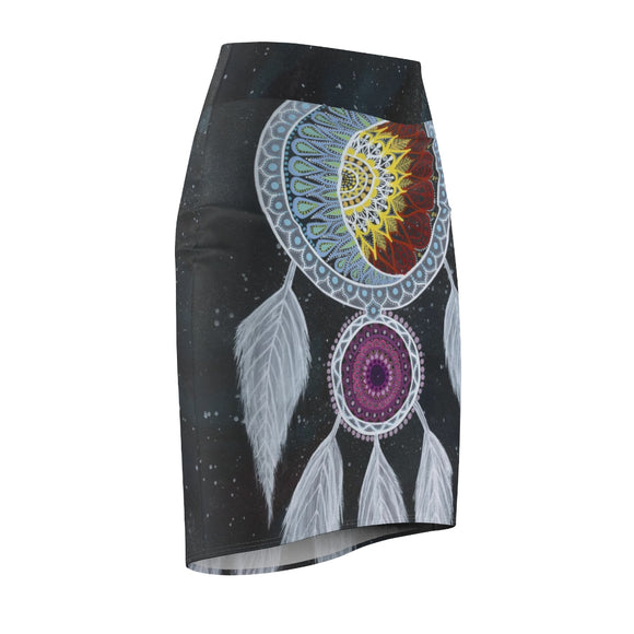 Women's  Dream Catcher Pencil Skirt