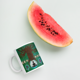 Tree Roots Mug with watermelon for scale
