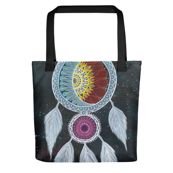 Galaxy Dream Catcher Beach Bag Tote