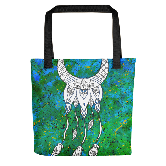 Sacred Geometry Feather Beach Bag Tote