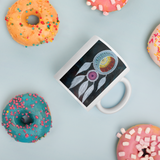 Dream Catcher Mug with donuts for scale