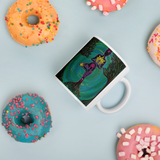 Rooted Sole Mug with donuts for scale