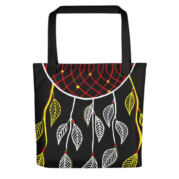 Black Dream Catcher Beach Bag Tote