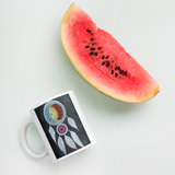 Dream Catcher Mug with watermelon for scale
