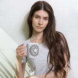 Person holding Zentangle Moon Mandala Mug