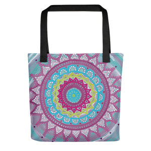 Mandala Zentangle Beach Bag Tote