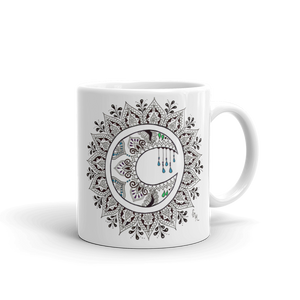 Zentangle Moon Mandala Mug