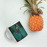 Rooted Sole Mug with pineapple for scale