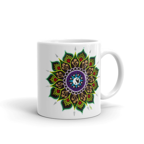 Flower Mandala Coffee Mug