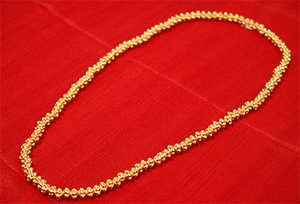 Manipuri Gold Plated Kathi (Heigru Pareng)