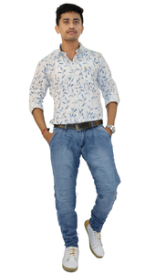 Men's Slim-Fit Stretchable and Simply Knitted Jeans