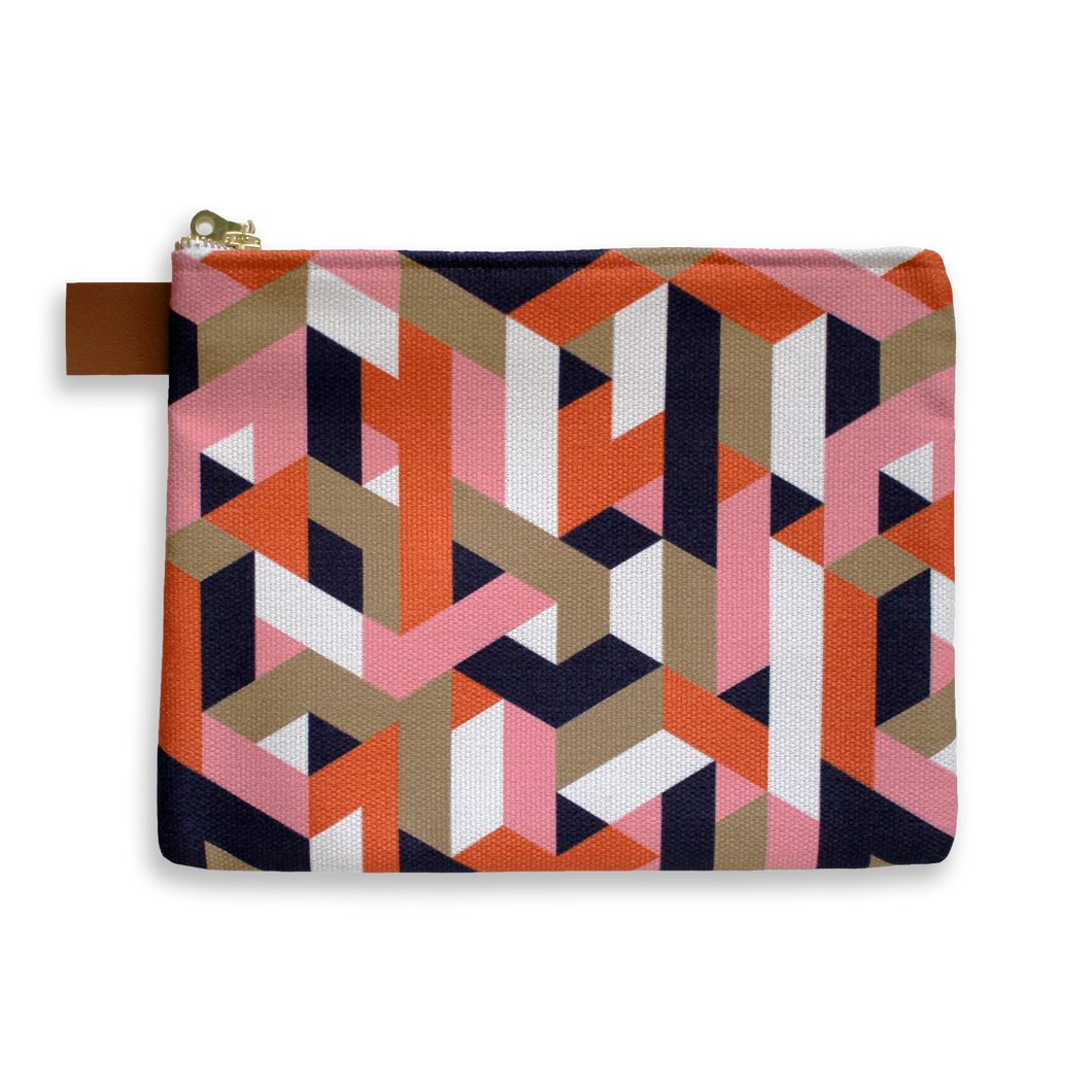 Geometric - Zipper Bag