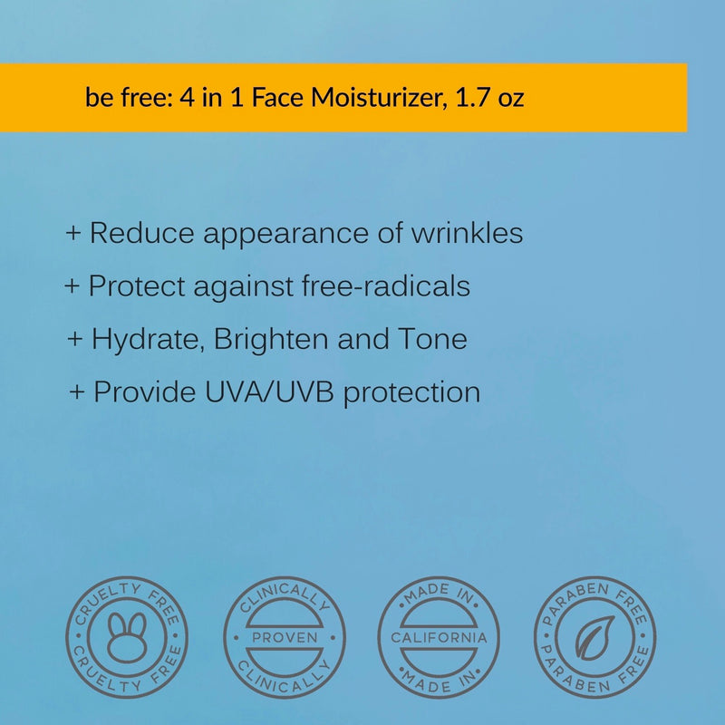 Dandelion Sun, be free 4-in-1 Face Moisturizer with SPF 30