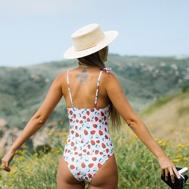Strawberry Print One Piece