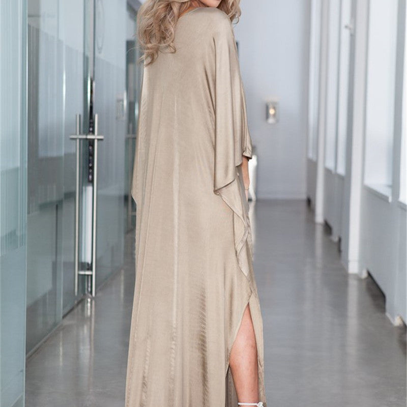 Nude Satin Chic Cover-Up